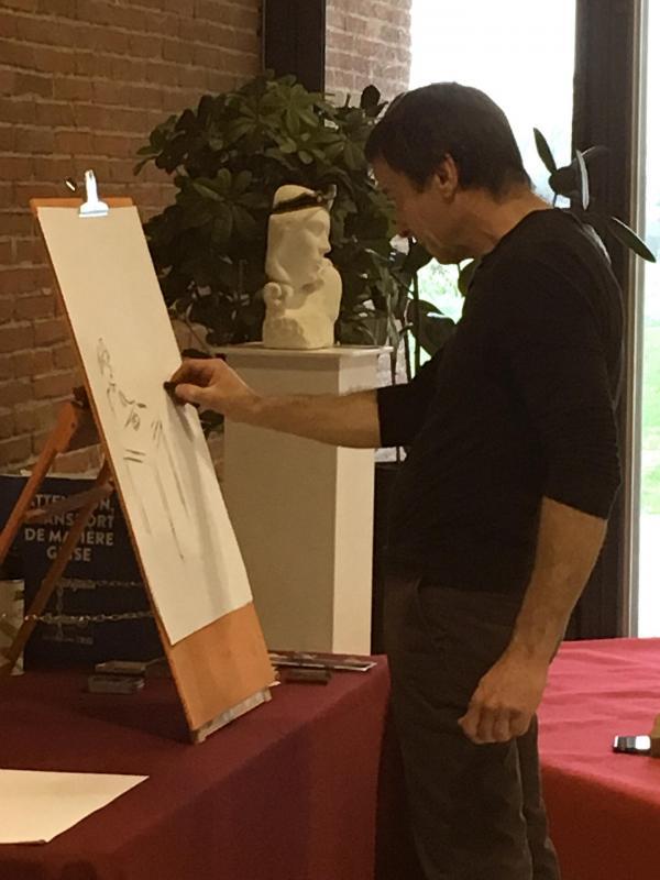 Giuseppe dessine la fresque